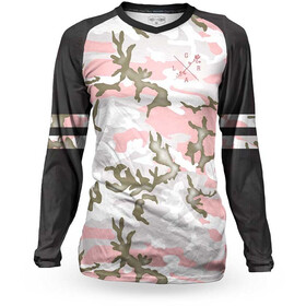 Loose Riders C/S Longsleeve Jersey Dames, varsity camo pink